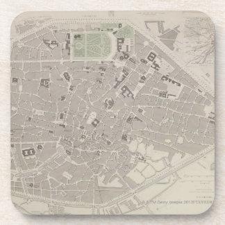 Carte antique de la Belgique 2 Sous-bocks