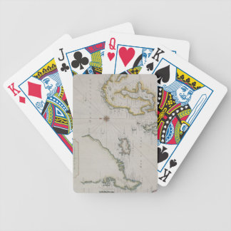 Carte antique de la Scandinavie 2 Jeu De Poker