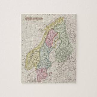 Carte antique de la Suède Puzzle