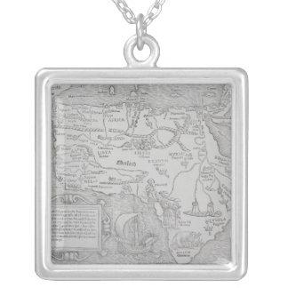 Carte antique de l'Afrique Collier
