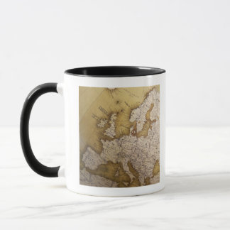 Carte antique de l'Europe. Vieux monde Mug