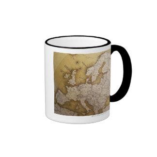 Carte antique de l'Europe. Vieux monde Mug Ringer