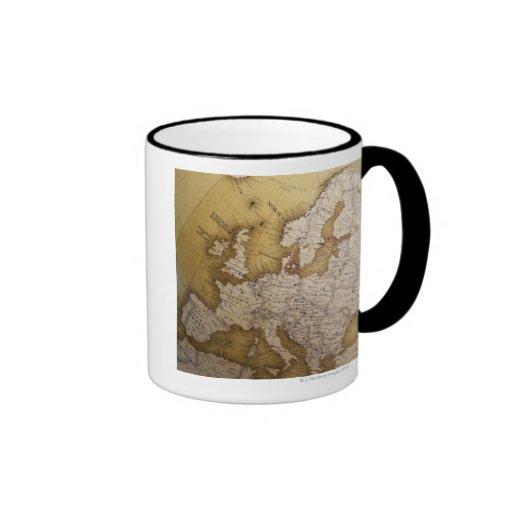 Carte antique de l'Europe. Vieux monde Tasses