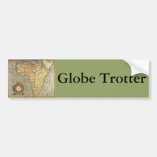 Carte antique de Mercator de Vieux Monde de Autocollant De Voiture