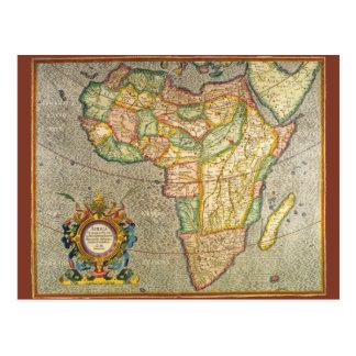 Carte antique de Mercator de Vieux Monde de Carte Postale