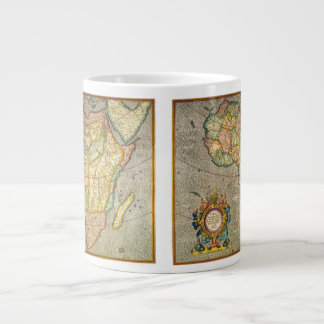Carte antique de Mercator de Vieux Monde de l Afri Mug Extra Large