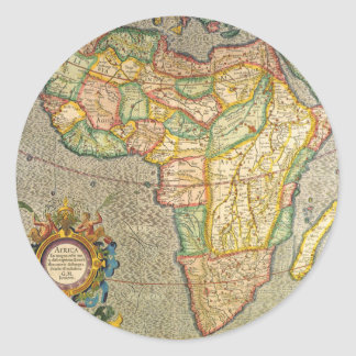 Carte antique de Mercator de Vieux Monde de Sticker Rond