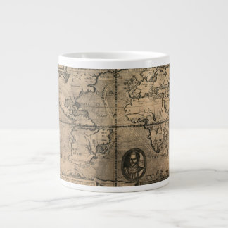 Carte antique du monde 1581 par Nicola van Sype Mug Jumbo