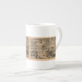 Carte antique du monde 1581 par Nicola van Sype Mugs En Porcelaine