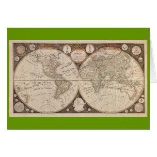 Carte antique du monde, 1799 (cuisine de Thomas)