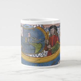 Carte antique du monde ; Amerigo Vespucci Mug Jumbo