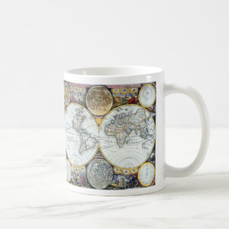 Carte antique du monde, atlas Maritimus par le Mug