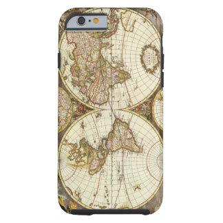 Carte antique du monde, C. 1680. Par Frederick de Coque iPhone 6 Tough