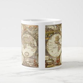 Carte antique du monde C 1680 Par Frederick de Mug Jumbo