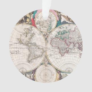 Carte antique du monde de Double-Hémisphère