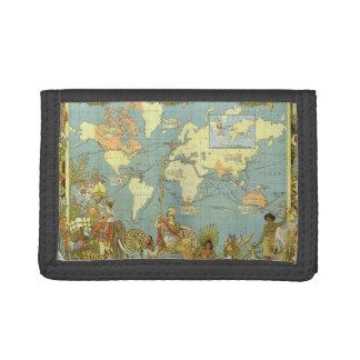 Carte antique du monde de l'Empire Britannique,