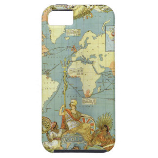 Carte antique du monde de l'Empire Britannique, Coques Case-Mate iPhone 5
