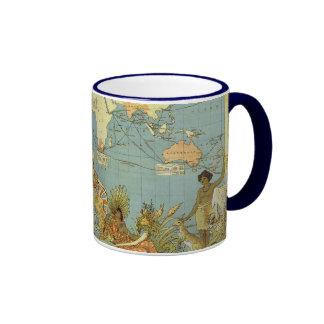 Carte antique du monde de l'Empire Britannique, Mug Ringer