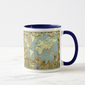 Carte antique du monde de l'Empire Britannique, Mugs