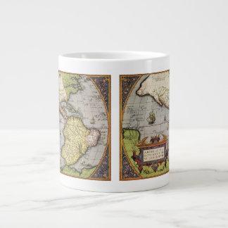 Carte antique du monde des Amériques 1570 Mugs Jumbo