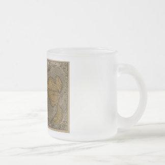 Carte antique du monde du classique 1531 par mug en verre givré