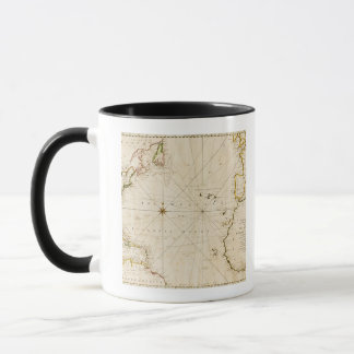 Carte antique du monde mug