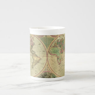 Carte antique du monde par Carington Bowles, circa Mugs En Porcelaine