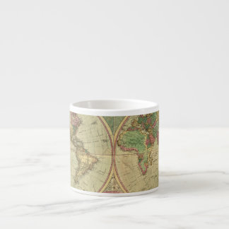 Carte antique du monde par Carington Bowles, circa Tasse Expresso