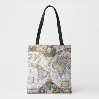 Carte antique du monde par Hendrik Hondius, 1630 Sac