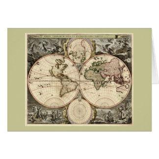 Carte antique du monde par Nicolao Visscher, circa