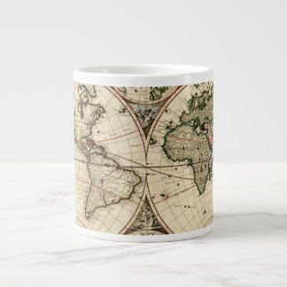 Carte antique du monde par Nicolao Visscher, circa Mug Jumbo