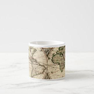 Carte antique du monde par Nicolao Visscher, circa Mug Pour Expresso