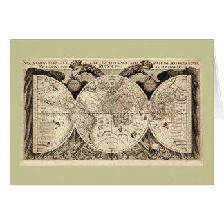Carte antique du monde par Philipp Eckebrecht -