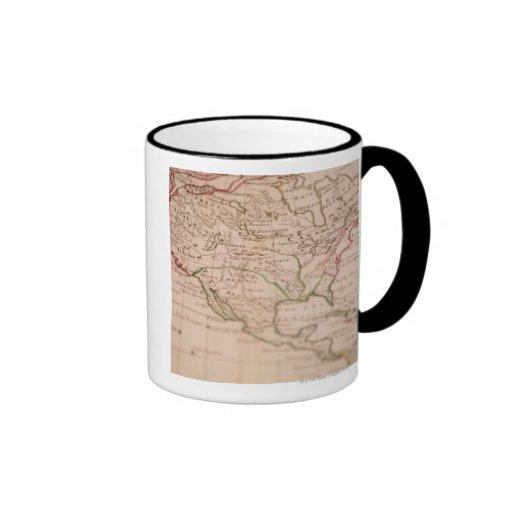 Carte antique du monde tasse à café