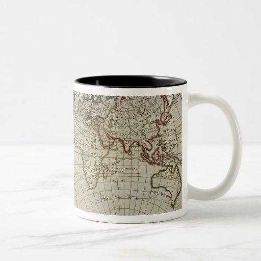 Carte antique du monde mug