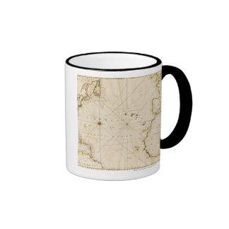 Carte antique du monde tasse