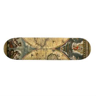 Carte antique J. Blaeu 1664 du monde Plateaux De Skateboards