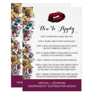 Carte Application de distributeur de rouge à lèvres +