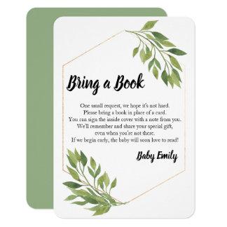 Carte Apportez à une verdure de livre le baby shower