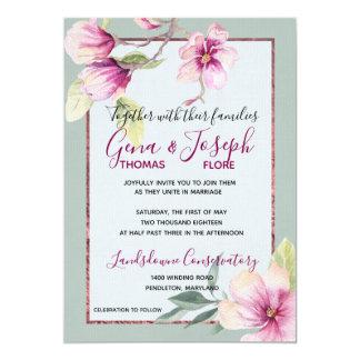 Carte Aquarelle et lueur vacillante de magnolia