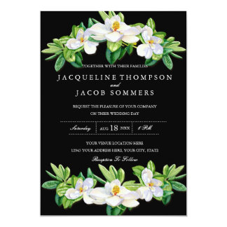 Carte Aquarelle florale de guirlande de fleur moderne de