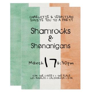 Carte Aquarelle irlandaise de malice de shamrocks de st