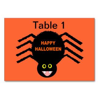 Carte Araignée noire Tablecard de Halloween