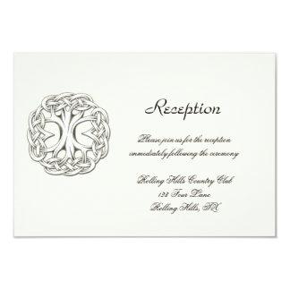 Carte Arbre celtique de réception de mariage de la vie