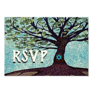 Carte Arbre de Mitzvah de barre de la vie RSVP