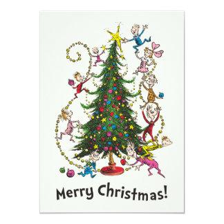 Carte Arbre de Noël classique de Grinch |
