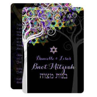 Carte Arbre de PixDezines de la vie B'not Mitzvah
