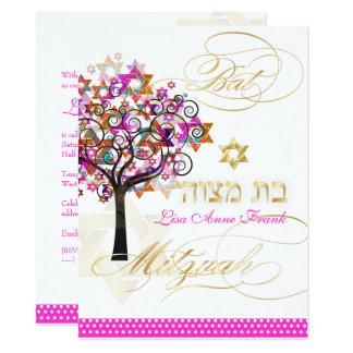 Carte Arbre de PixDezines de la vie+Étoiles, bat mitzvah