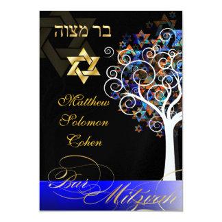 Carte Arbre de PixDezines de mitzvah de la vie/de glace