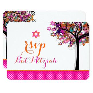 Carte Arbre de PixDezines RSVP de bat mitzvah de la vie